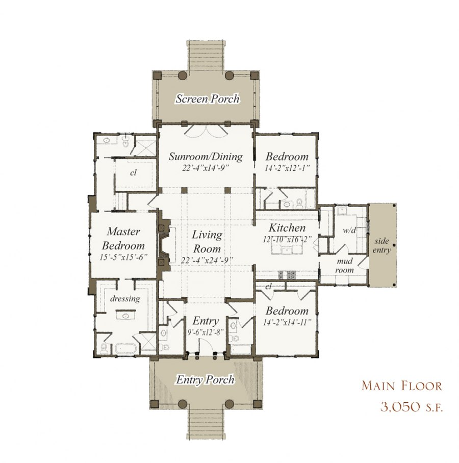 100 Our Town Plans Narrow Lot House Plan Affordable