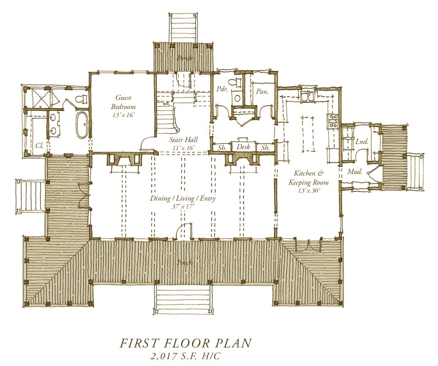 New Carolina Island House Plans