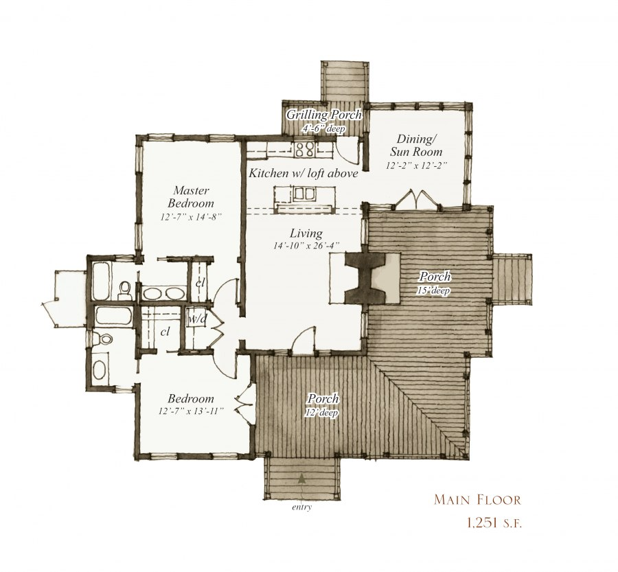 House plan 42 concord drive by our town plans 1003 for Our town house plans